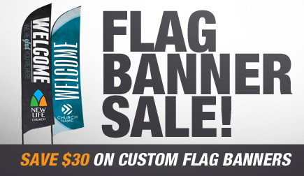 Save $30 on all Custom Banners until February 28, 2015!