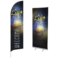 """The Light of Christmas"" Banners and Signs"