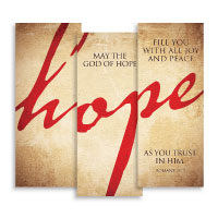 """Hope"" Banner Triptych"