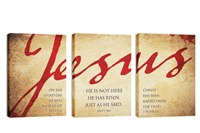 """Jesus"" Canvas Triptych"