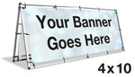 A-Frame Banner Stand 4'x10'