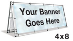 A-Frame Banner Stand 4'x8'