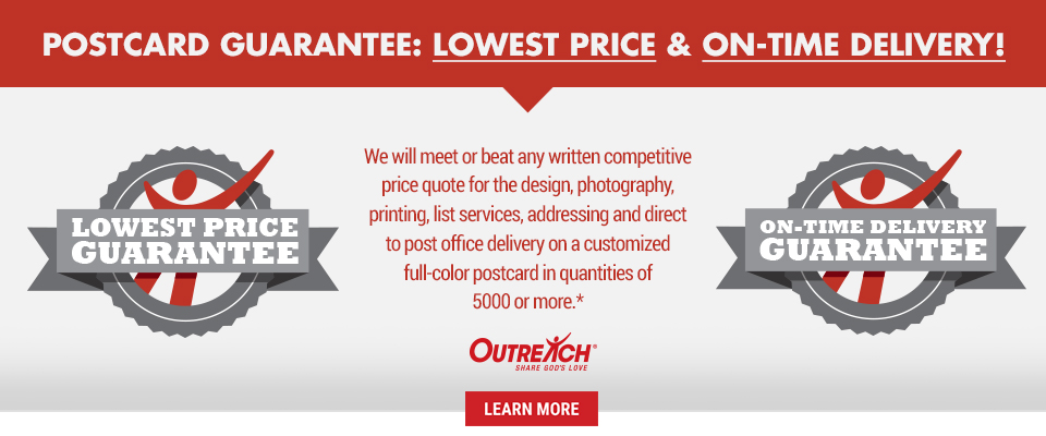 Low Price and Delivery Guarantee on Direct Mail Postcards