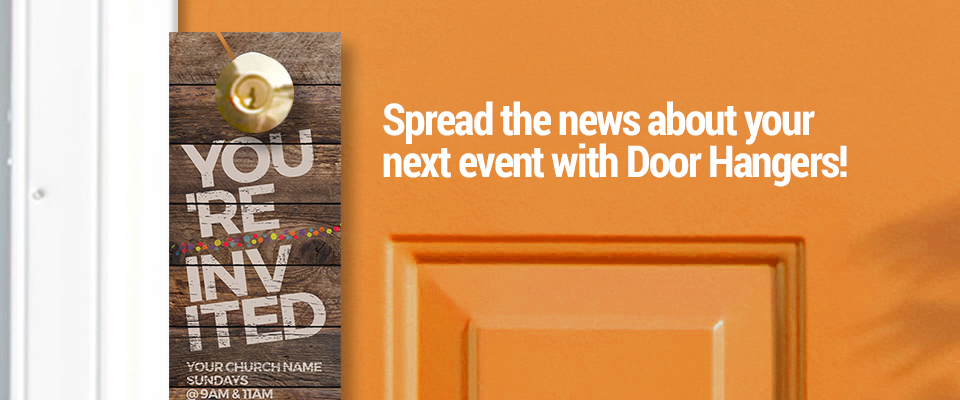 Church Door Hangers & Church Door Hangers - Outreach: Church communication and marketing tools