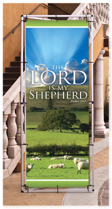 A Frame - Lord My Shepherd Banner