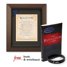 Framed Courageous Resolution Certificate