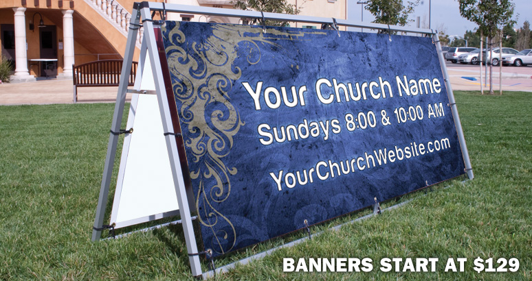 outdoor church banner and stand sale only 249 outreachcom