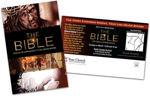 The Bible 30-Day Experience Postcard Sample