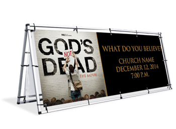 God's not Dead Outdoor Banners