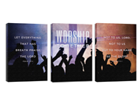 """Worship Loud"" Canvas Triptych"