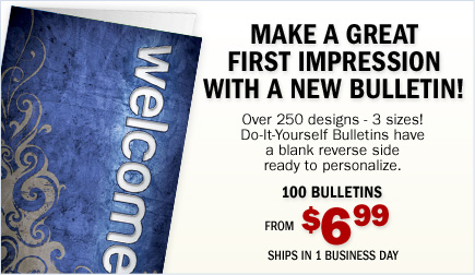 Make a Great First Impression with a New Bulletin - Over 250 Designs