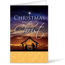 Christmas Begins Christ Bulletin