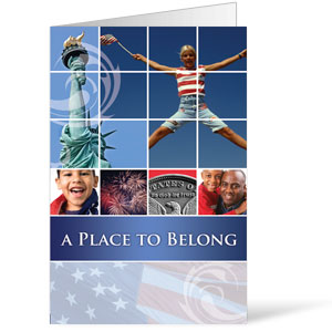 Belong Red White Blue  8.5 x 14 Bulletins