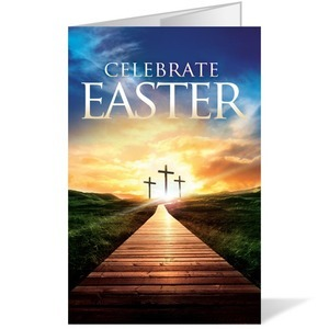 Easter Crosses Path  8.5 x 14 Bulletins