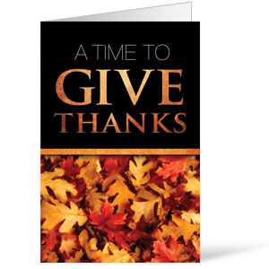Time To Give Thanks Bulletins