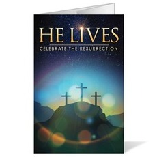 He Lives Crosses Bulletin