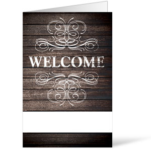 Rustic Charm Welcome Bulletins
