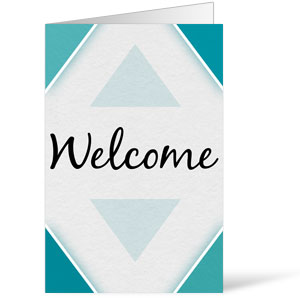 Welcome Diamond Blue 8.5 x 14 Bulletins