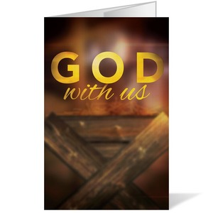 God With Us Manger 8.5 x 14 Bulletins
