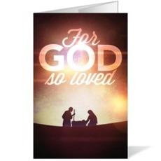 For God So Loved Nativity Bulletin
