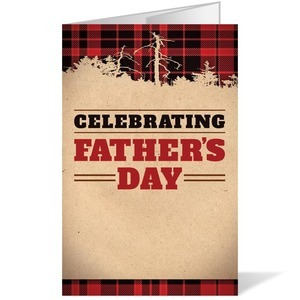 Father's Day Plaid 8.5 x 14 Bulletins