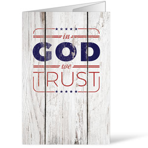 In God We Trust Wood Bulletins