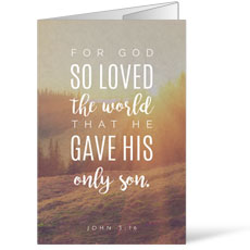 Photo Scriptures John 3:16 Bulletin