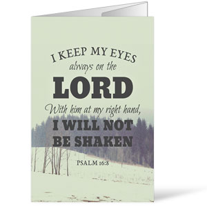 Inspirational Art Psalm 16:8 Bulletins