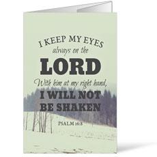 Inspirational Art Psalm 16:8 Bulletin