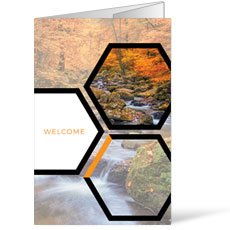 Welcome Hexagon Fall