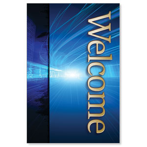 Light Rays Welcome LED LightBox Graphics