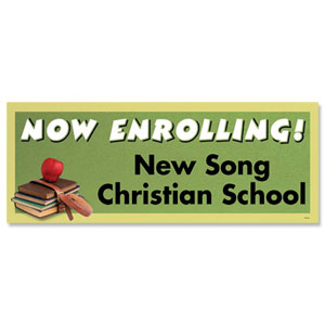 Now Enrolling Banners