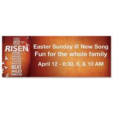 Risen Cross Banner