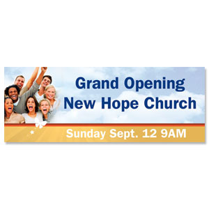 Grand Opening People Banners
