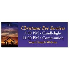 Christmas Begins Christ Banner