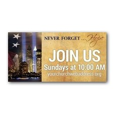 Never Forget Hope Outdoor Banner