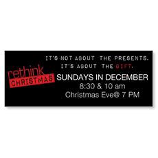 Rethink Christmas Banner
