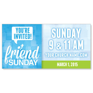 Friend Sunday Banners