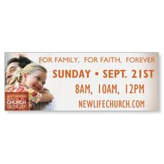 Family Faith Hug Banner