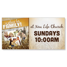A Place for Family Fall Banner