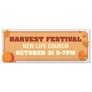 Join Us Harvest Festival 3 x 8 ImpactBanners