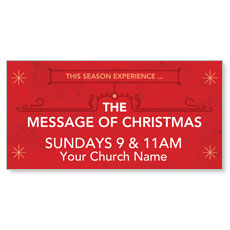 The Message of Christmas Banner