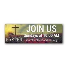 Celebrate Easter Cross Banner