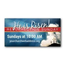 Risen Resurrection Banner