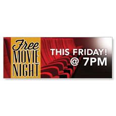 Free Movie Night Friday Banner