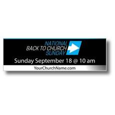 Back to Church Sunday Arrow Banner