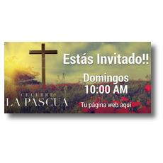 Celebrate Easter Cross Spanish Banner