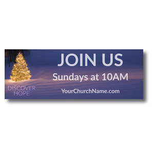 Discover Hope Bright Tree Banners