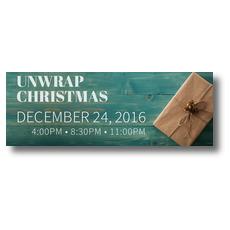Unwrap Christmas Banner