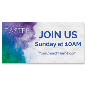 Celebrate Watercolor Easter Banners